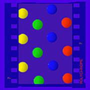 Polychrome Blue Poster