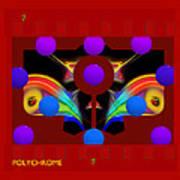 Polychrome Red Kimono Poster