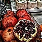 Pomegranates In Open Market Art II Poster