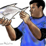 Pompano Catch Of The Day Poster
