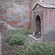 Pompeii Dry Fountain Poster
