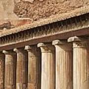 Pompeii Pillars Poster
