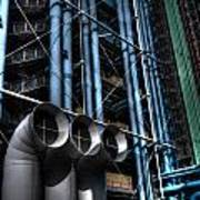 Pompidou Pipes Poster