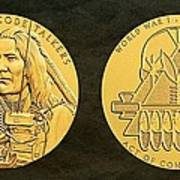 Ponca Tribe Code Talkers Bronze Medal Art Poster