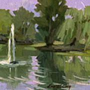 Pond At Fort Dent Tukwilla Poster