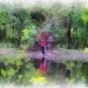 Pond Fishing Photo Art Poster