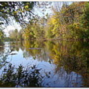 Pond Reflection At Limehouse Ontario Poster