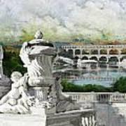 Pont Du Gard Roman Aqueduct Poster