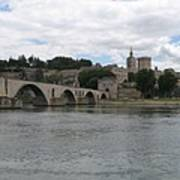 Pont Saint Benezet And Pope Palace Poster