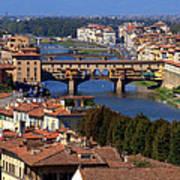Ponte Vecchio And Arno River Poster