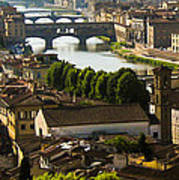 Ponte Vecchio Late Afternoon Poster by Jon Berghoff