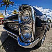 Pontiac Gto Convertible Ft Myers Beach Florida Poster by Edward Fielding