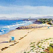 Ponto Beach Carlsbad California Poster by Mary Helmreich