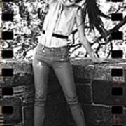 Pony Tail Lady Poster