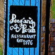 Poogan's Porch Poster