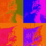 Pop Art Cat  Poster by Ann Powell