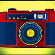 Pop Art Robin Poster by Mike McGlothlen
