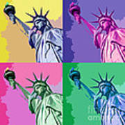 Pop Liberty Poster by Delphimages Photo Creations