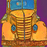 Pop Old Truck Poster