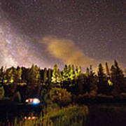 Pop Up Camper Under The Milky Way Sky Poster