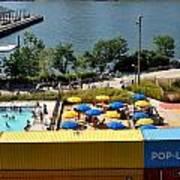 Pop Up Pool In Brooklyn Bridge Park Poster