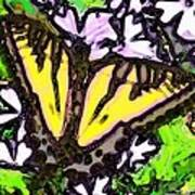 Popart Butterfly Redux Poster