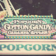 Popcorn Stand Carnival Photograph From The Summer Fair Poster