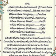 Pope Francis St. Francis Simple Prayer Poster by Desiderata Gallery