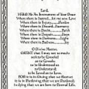 Pope Francis St. Francis Simple Prayer Leaf Parchment Poster