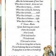 Pope Francis St. Francis Simple Prayer Mary Poster by Desiderata Gallery
