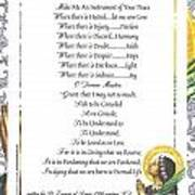 Pope Francis St. Francis Simple Prayer Purity Poster by Desiderata Gallery