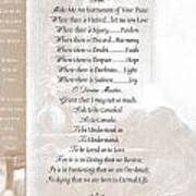 Pope Francis St. Francis Simple Prayer St. Teresa Poster by Desiderata Gallery