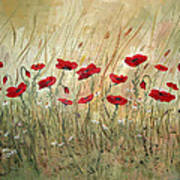 Poppies And Wild Flowers Poster