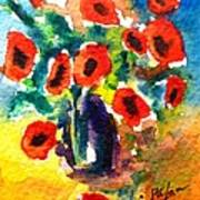 Poppies In A Vase Poster