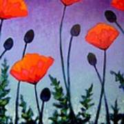 Poppies In The Sky II Poster