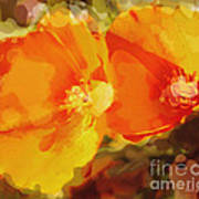 Poppies On Fire Poster by Artist and Photographer Laura Wrede