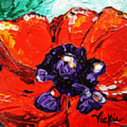 Poppy 4 Poster by Vickie Warner