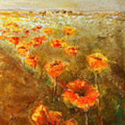Poppy Field  Triptic Right Poster