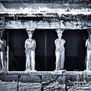 Porch Of The Caryatids Poster by John Rizzuto
