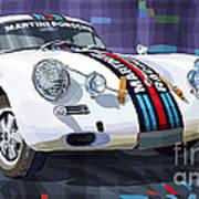 Porsche 356 Martini Racing Poster