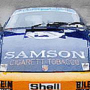 Porsche 911 Front End Watercolor Poster