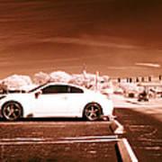 Porsche Car Side Profile Brown Near Infrared  Poster