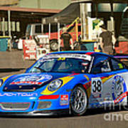 Porsche In The Pits Poster