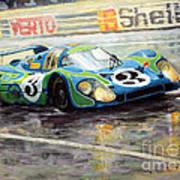 Porsche Psychedelic 917lh  1970  Le Mans 24  Poster