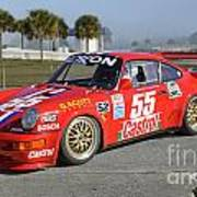 Porsche Rsr Race Car At Sebring Poster