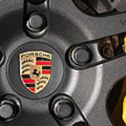 Porsche Vorsteiner Wheel Logo Poster