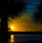 Port Charlotte Beach Sunset In January Poster by Anne Kitzman