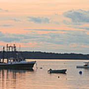 Port Clyde Maine Fishing Boats At Sunset Poster