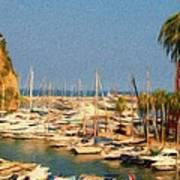 Port De Fontvieille Poster