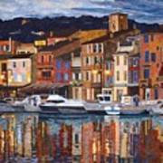 Port Of Cassis Poster by Lenore Crawford
